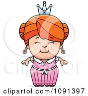 Clipart Cute Red Haired Princess Girl Royalty Free Vector Illustration