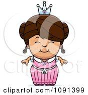 Cute Brunette Princess Girl