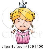 Clipart Cute Blond Princess Girl Royalty Free Vector Illustration