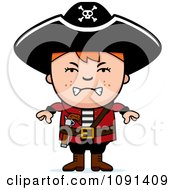Clipart Mad Pirate Boy Royalty Free Vector Illustration by Cory Thoman