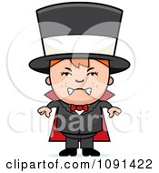 Clipart Mad Magician Boy Royalty Free Vector Illustration