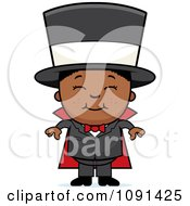 Clipart Happy Black Magician Boy Smiling Royalty Free Vector Illustration