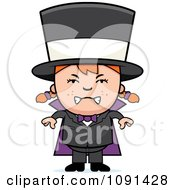Clipart Happy Magician Girl Smiling Royalty Free Vector Illustration
