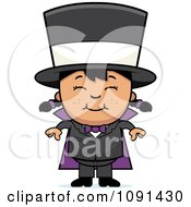 Clipart Happy Asian Magician Girl Smiling Royalty Free Vector Illustration by Cory Thoman