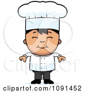 Clipart Happy Asian Chef Boy Smiling Royalty Free Vector Illustration