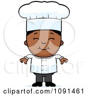 Clipart Happy Black Chef Boy Smiling Royalty Free Vector Illustration by Cory Thoman