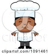 Happy Black Chef Boy Smiling