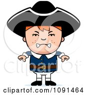 Clipart Mad Colonial Boy Royalty Free Vector Illustration by Cory Thoman