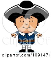 Clipart Colonial Boy Smiling Royalty Free Vector Illustration by Cory Thoman