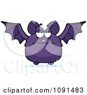 Clipart Bored Purple Bat Royalty Free Vector Illustration by Cory Thoman
