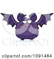 Clipart Drunk Purple Bat Royalty Free Vector Illustration