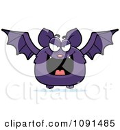 Clipart Evil Purple Bat Royalty Free Vector Illustration by Cory Thoman