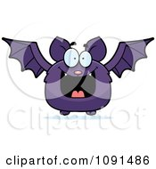 Clipart Happy Purple Bat Royalty Free Vector Illustration by Cory Thoman