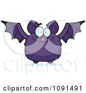Clipart Purple Bat Royalty Free Vector Illustration by Cory Thoman