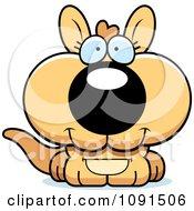 Clipart Cute Kangaroo Royalty Free Vector Illustration
