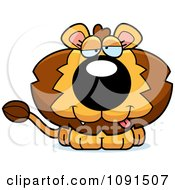 Clipart Cute Dumb Lion Royalty Free Vector Illustration