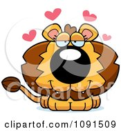 Clipart Cute Loving Lion Royalty Free Vector Illustration