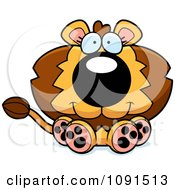 Clipart Cute Sitting Lion Royalty Free Vector Illustration