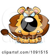 Clipart Cute Mad Lion Royalty Free Vector Illustration by Cory Thoman