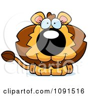 Clipart Cute Lion Royalty Free Vector Illustration by Cory Thoman