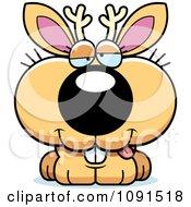 Clipart Cute Dumb Jackalope Royalty Free Vector Illustration