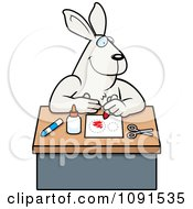 Clipart Arts And Crafts Rabbit Royalty Free Vector Illustration by Cory Thoman