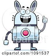 Clipart Smart Robot Rabbit Royalty Free Vector Illustration by Cory Thoman