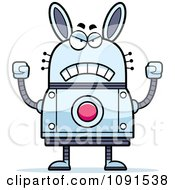 Clipart Mad Robot Rabbit Royalty Free Vector Illustration by Cory Thoman