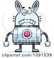Clipart Sad Robot Rabbit Royalty Free Vector Illustration by Cory Thoman