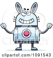 Clipart Evil Robot Rabbit Royalty Free Vector Illustration by Cory Thoman
