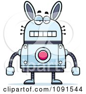 Clipart Bored Robot Rabbit Royalty Free Vector Illustration by Cory Thoman