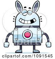 Clipart Dumb Robot Rabbit Royalty Free Vector Illustration by Cory Thoman