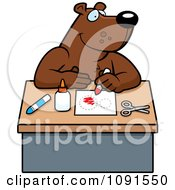 Clipart Arts And Crafts Bear Royalty Free Vector Illustration by Cory Thoman