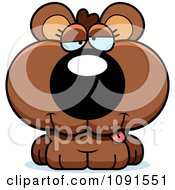 Clipart Cute Dumb Bear Cub Royalty Free Vector Illustration