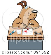 Clipart Arts And Crafts Dog Royalty Free Vector Illustration
