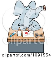 Clipart Arts And Crafts Elephant Royalty Free Vector Illustration by Cory Thoman