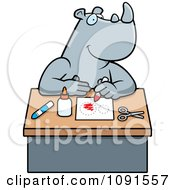 Clipart Arts And Crafts Rhino Royalty Free Vector Illustration by Cory Thoman