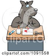 Clipart Arts And Crafts Wolf Royalty Free Vector Illustration by Cory Thoman