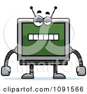 Clipart Bored Screen Robot Royalty Free Vector Illustration by Cory Thoman