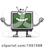 Clipart Evil Screen Robot Royalty Free Vector Illustration by Cory Thoman