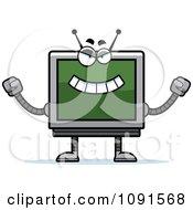Clipart Evil Screen Robot Royalty Free Vector Illustration