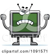 Clipart Mad Screen Robot Royalty Free Vector Illustration