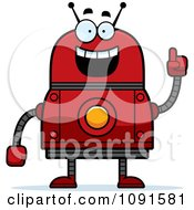 Clipart Smart Red Robot Royalty Free Vector Illustration