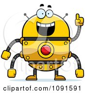 Clipart Smart Golden Robot Royalty Free Vector Illustration by Cory Thoman