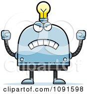 Mad Light Bulb Head Robot