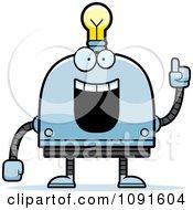 Creative Light Bulb Head Robot