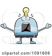 Scared Light Bulb Head Robot