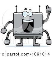 Clipart Smart Box Robot Royalty Free Vector Illustration by Cory Thoman