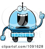 Clipart Smart Blue Robot Boy Royalty Free Vector Illustration