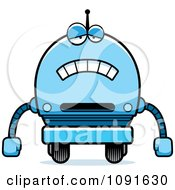 Clipart Sad Blue Robot Boy Royalty Free Vector Illustration by Cory Thoman